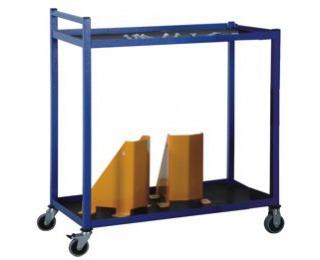 Dielenský vozík s dvoma policami na kolieskach PP2 - modrá