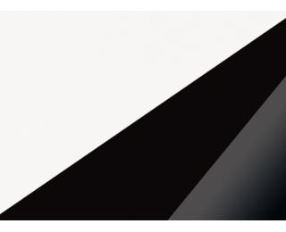 Manželská posteľ s roštom Viki VIK-10 160 - biela / čierny lesk