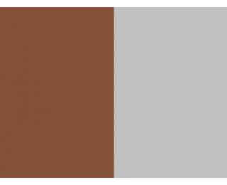Závesné hojdacie kreslo Bahamas - hnedý ratan / sivá poduška