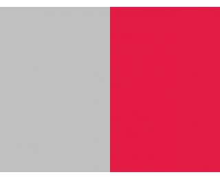 Závesné hojdacie kreslo Madeira - sivý ratan / červená poduška