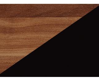 Nočný stolík Viki VIK-14 - slivka / čierny lesk