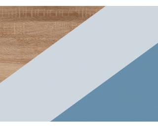 Rozkladacia posteľ s roštom Kitty KIT-07 - sonoma svetlá / belasá / modrá