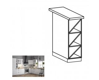 Dolná kuchynská skrinka Provance D20W - biela