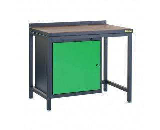 Pracovný stôl PSS01D/L1 - grafit / zelená
