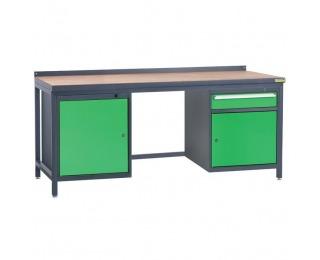 Pracovný stôl PSS03D/L1L3 - grafit / zelená