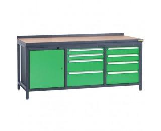 Pracovný stôl PSS03D/L1L6L7 - grafit / zelená