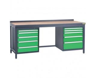 Pracovný stôl PSS03D/L4L5 - grafit / zelená
