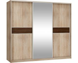 Šatníková skriňa s posuvnými dverami Puerto L240C 3D - sonoma svetlá / sonoma tmavá