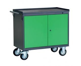 Dielenský vozík na kolieskach so zámkom PWW01G/2L1 - grafit / zelená