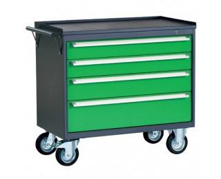 Dielenský vozík na kolieskach so zámkom PWW01G/2L7 - grafit / zelená