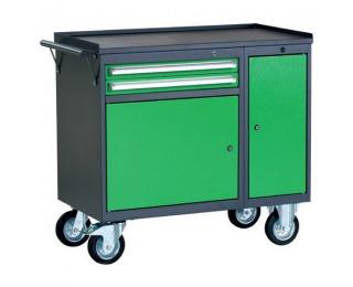 Dielenský vozík na kolieskach so zámkom PWW01G/L2L10 - grafit / zelená