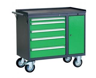 Dielenský vozík na kolieskach so zámkom PWW01G/L4L10 - grafit / zelená