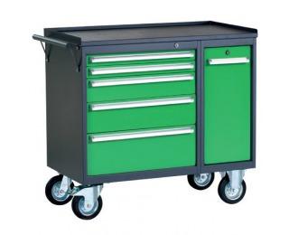 Dielenský vozík na kolieskach so zámkom PWW01G/L5L9 - grafit / zelená