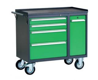 Dielenský vozík na kolieskach so zámkom PWW01G/L6L9 - grafit / zelená