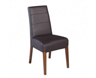 Jedálenská stolička Bianco - drevo D3 / tmavosivá (Madras platin)