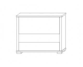 Barová skrinka Kacper 2S - wenge / biely vysoký lesk