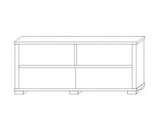 TV stolík Kacper 2S - wenge / biely vysoký lesk