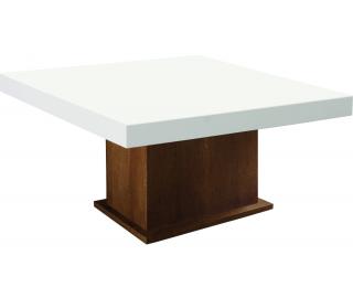 Konferenčný stolík Kacper - drevo D3 / biely vysoký lesk