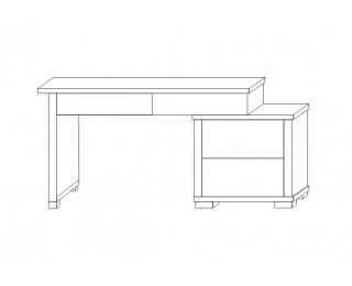Písací stôl Kacper - wenge / biely vysoký lesk