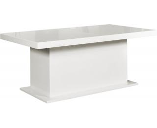 Rozkladací jedálenský stôl Kacper 200/400 - biely vysoký lesk