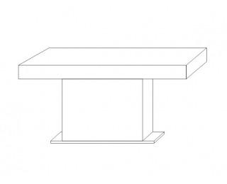 Rozkladací jedálenský stôl Kacper 160/240 - wenge