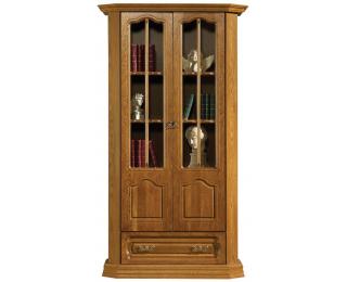 Rustikálna knižnica Kinga - drevo D3