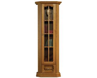 Rustikálna jednodverová vitrína Kinga P - drevo D3