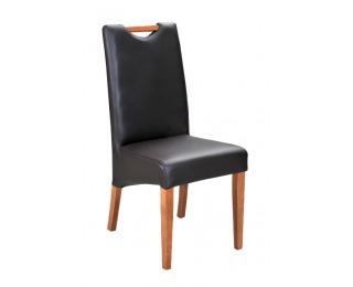 Jedálenská stolička Raczka - drevo D3 / tmavosivá (Madras platin)