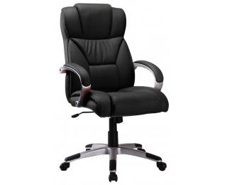 Kancelárske kreslo s podrúčkami Q-044 - čierna
