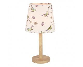 Stolná lampa Qenny Typ 7 - prírodná / vzor vtáky