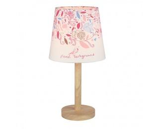 Stolná lampa Qenny Typ 8 - prírodná / vzor kvety