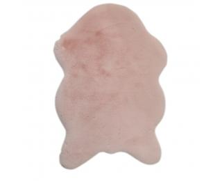 Umelá kožušina Rabit Typ 5 60x90 cm - ružová