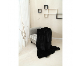 Kožušinová deka Rabita Typ 1 150x170 cm - čierna