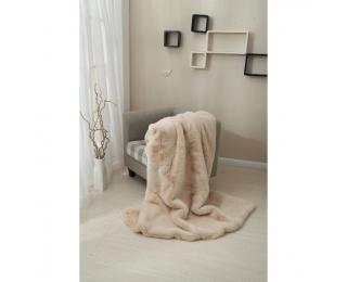 Kožušinová deka Rabita Typ 2 150x180 cm - béžová