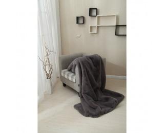 Kožušinová deka Rabita Typ 3 150x170 cm - sivá