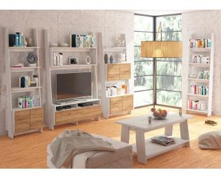 Obývacia izba Rack - craft biely / craft zlatý