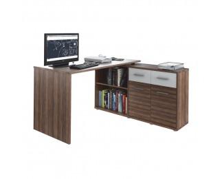 Rohový PC stolík Rafael New - slivka / biela