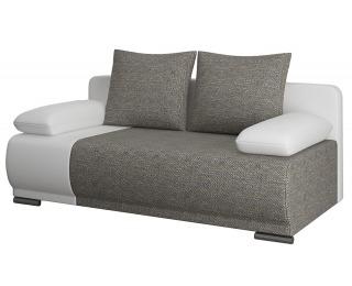Rozkladacia pohovka s úložným priestorom Real - sivá / biela
