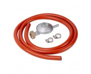 Regulátor plynu s hadicou C31-30 28-30 mbar - červená / strieborná