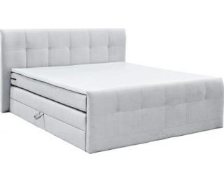 Čalúnená manželská posteľ s matracmi Milano 180 - biela (comfort)