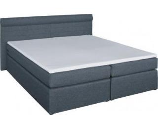 Čalúnená manželská posteľ s matracmi Torino 160 - grafit (megacomfort)