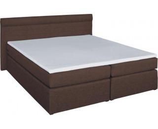 Čalúnená manželská posteľ s matracmi Torino 180 - hnedá (comfort)