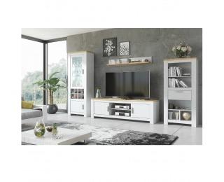 Obývacia izba Rene - biela andersen / dub bernstein