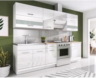 Kuchyňa Rio 240 - biela / biely lesk