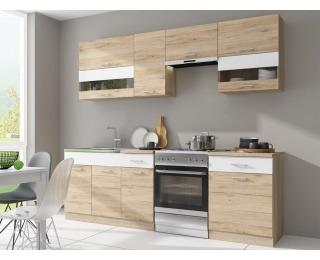Kuchyňa Rio MAT 240 - dub san remo / biela