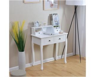 Barokový toaletný stolík Rodes - biela