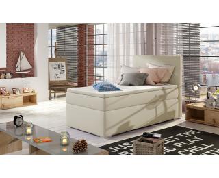 Čalúnená jednolôžková posteľ s úložným priestorom Rodrigo 90 L - béžová