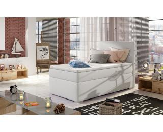 Čalúnená jednolôžková posteľ s úložným priestorom Rodrigo 90 L - biela