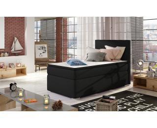 Čalúnená jednolôžková posteľ s úložným priestorom Rodrigo 90 L - čierna (Sawana 14)