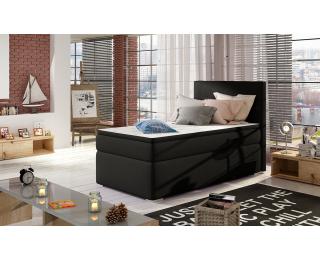 Čalúnená jednolôžková posteľ s úložným priestorom Rodrigo 90 L - čierna (Soft 11)